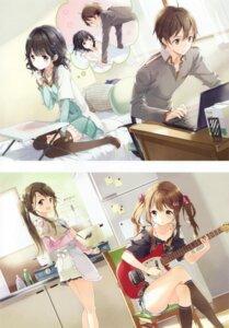 Rating: Safe Score: 80 Tags: aoharu! aoi_suzu guitar minamoto_izumi shindou_yuu_(aoharu!) sumiyoshi_komachi thighhighs tiv User: yong