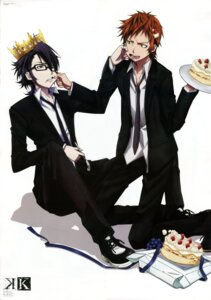 Rating: Safe Score: 5 Tags: fushimi_saruhiko ishimori_ai k male megane yata_misaki User: Radioactive