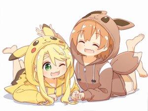 Rating: Safe Score: 23 Tags: crossover himesaka_noa hoshino_hinata manse pajama pokemon watashi_ni_tenshi_ga_maiorita! User: saemonnokami