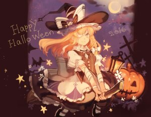 Rating: Safe Score: 19 Tags: bandages eyepatch halloween kirisame_marisa rom_(romshiro) touhou witch User: Mr_GT