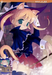 Rating: Questionable Score: 19 Tags: akiyoshi_yoshiaki animal_ears nekomimi pantsu tail thighhighs witch User: petopeto