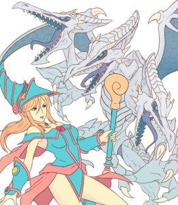 Rating: Safe Score: 6 Tags: blue_eyes_white_dragon cosplay crossover dark_magician_girl horns leotard metroid monster parody ridley samus_aran truejekart weapon yugioh User: Werewolverine4