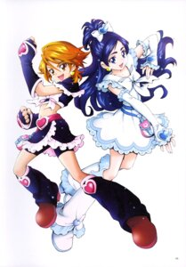 Rating: Safe Score: 8 Tags: bike_shorts dress futari_wa_pretty_cure heels kamikita_futago misumi_nagisa pretty_cure yukishiro_honoka User: drop