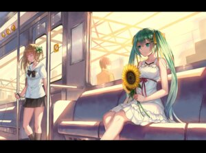 Rating: Safe Score: 54 Tags: dress hatsune_miku seifuku summer_dress vocaloid weiyinji_xsk User: blooregardo