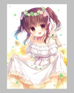 Rating: Questionable Score: 50 Tags: dress ogata_chieri skirt_lift the_idolm@ster yukie User: edogawaconan