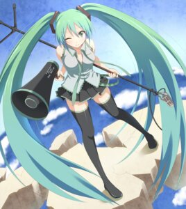 Rating: Safe Score: 38 Tags: dansa hatsune_miku thighhighs vocaloid User: fairyren