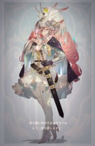 Rating: Safe Score: 32 Tags: armor cleavage grandialee heels no_bra sword tagme thighhighs User: Radioactive