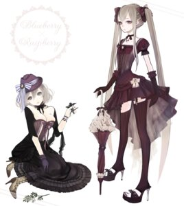 Rating: Safe Score: 35 Tags: cleavage lolita_fashion shikishima_(eiri) stockings thighhighs User: Nekotsúh
