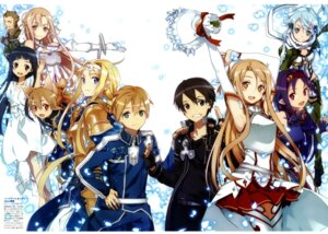 Rating: Safe Score: 61 Tags: abec alice_schuberg animal_ears armor asuna_(sword_art_online) cleavage dress kibaou kirito konno_yuuki pointy_ears silica sinon sword_art_online thighhighs yui_(sword_art_online) User: AltY