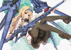 Rating: Questionable Score: 111 Tags: cecilia_alcott gun infinite_stratos mecha_musume pantyhose paseri User: Velociraptor