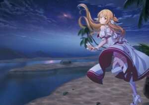 Rating: Safe Score: 32 Tags: asuna_(sword_art_online) dress garter heels sword_art_online sword_art_online_alicization sword_art_online_alicization_lycoris thighhighs User: kiyoe
