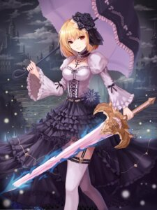 Rating: Safe Score: 48 Tags: dew gothic_lolita lolita_fashion stockings sword thighhighs umbrella User: Mr_GT