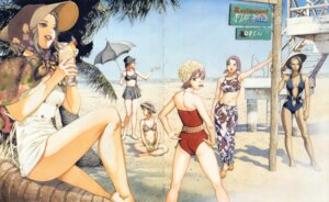 Rating: Safe Score: 8 Tags: ass bikini cleavage crease possible_duplicate rahxephon swimsuits umbrella yamada_akihiro User: Radioactive
