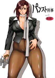 Rating: Questionable Score: 5 Tags: cleavage gun midoh_tsukasa nopan pantyhose pubic_hair User: ferkunxd