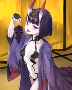 Rating: Questionable Score: 20 Tags: cleavage fate/grand_order horns no_bra nuqura open_shirt pantsu shuten_douji_(fate/grand_order) User: nphuongsun93