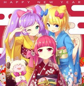 Rating: Safe Score: 14 Tags: blueberry_(5959) houjou_sophie kimono manaka_lala minami_mirei pripara User: blooregardo