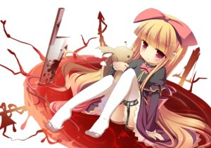 Rating: Questionable Score: 37 Tags: blood loli masaki_(machisora) pantsu stockings thighhighs User: 椎名深夏