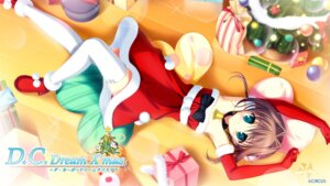 Rating: Safe Score: 66 Tags: asakura_yume christmas circus da_capo_(series) da_capo_dream_x'mas da_capo_ii dress tanihara_natsuki thighhighs wallpaper User: Anonymous