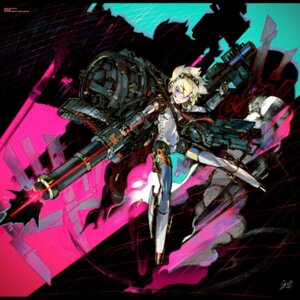 Rating: Safe Score: 32 Tags: aegis gun headphones jnthed mecha_musume megaten persona persona_4:_the_ultimate_in_mayonaka_arena weapon User: Debbie