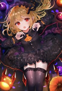 Rating: Safe Score: 36 Tags: flandre_scarlet halloween pointy_ears skirt_lift tagme thighhighs touhou wings User: BattlequeenYume