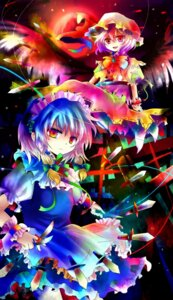 Rating: Safe Score: 7 Tags: izayoi_sakuya kazu_(muchuukai) maid remilia_scarlet touhou wings User: konstargirl