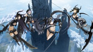 Rating: Safe Score: 61 Tags: bikini_top black_gold_saw black_rock_shooter black_rock_shooter_(character) cleavage dead_master horns justminor strength sword thighhighs vocaloid User: echidna_vita