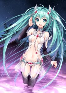 Rating: Safe Score: 146 Tags: cleavage hatsune_miku nardack thighhighs vocaloid vocaloid_append User: Radioactive