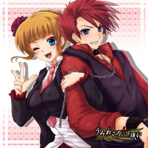 Rating: Safe Score: 6 Tags: beatrice uka_(color_noise) umineko_no_naku_koro_ni ushiromiya_battler User: charunetra