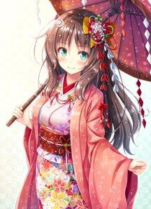 Rating: Safe Score: 87 Tags: akashio kimono umbrella User: hiroimo2