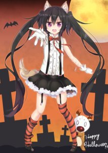Rating: Safe Score: 52 Tags: amano_(els573) animal_ears halloween note-chan stockings tail thighhighs User: Mr_GT