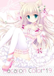 Rating: Safe Score: 47 Tags: animal_ears dress hasekura_chiaki heels thighhighs User: fairyren