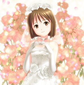 Rating: Safe Score: 25 Tags: dress hagiwara_yukiho ponnetsu the_idolm@ster wedding_dress User: zero|fade