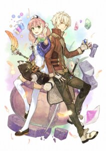 Rating: Safe Score: 34 Tags: atelier atelier_escha_&_logy digital_version escha_malier hidari jpeg_artifacts logix_ficsario sword thighhighs weapon User: Radioactive