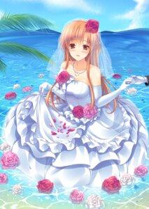 Rating: Safe Score: 52 Tags: asuna_(sword_art_online) dress mitsu_king sword_art_online wedding_dress User: fairyren