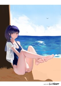 Rating: Safe Score: 61 Tags: cleavage feet kamachi_kamachi-ko open_shirt seifuku swimsuits User: Mr_GT