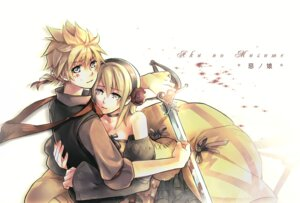 Rating: Safe Score: 10 Tags: kagamine_len kagamine_rin rrr vocaloid User: charunetra