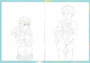 Rating: Safe Score: 5 Tags: crease fixme koe_no_katachi line_art raw_scan seifuku sweater User: yswysc