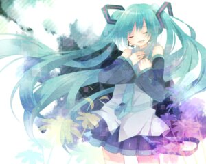 Rating: Safe Score: 10 Tags: hatsune_miku vocaloid wallpaper yamiya User: Radioactive