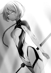 Rating: Safe Score: 19 Tags: aeril_vi_arcadia bodysuit kasuga_ayumu_(artist) monochrome saijaku_muhai_no_bahamut sword User: kiyoe