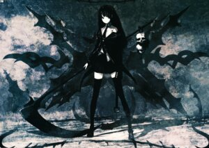 Rating: Safe Score: 42 Tags: black_rock_shooter death_scythe fixed huke thighhighs vocaloid User: Azarel