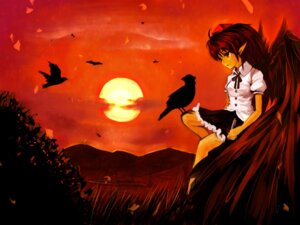 Rating: Safe Score: 9 Tags: chagu shameimaru_aya touhou wallpaper wings User: animeprincess