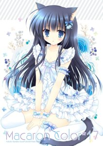 Rating: Safe Score: 56 Tags: animal_ears hasekura_chiaki nekomimi tail thighhighs User: fairyren