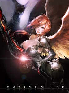 Rating: Safe Score: 27 Tags: armor cleavage lsr monster sword wings User: mash