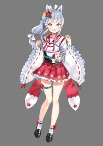 Rating: Safe Score: 32 Tags: ancotaku animal_ears garter japanese_clothes onsen_musume ryuujin_sei seifuku transparent_png User: saemonnokami