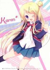 Rating: Questionable Score: 59 Tags: kin'iro_mosaic kujou_karen miyasaka_nako seifuku User: Twinsenzw