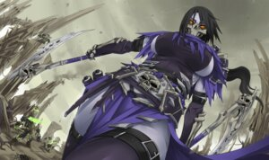 Rating: Safe Score: 38 Tags: akali cosplay darksiders death_(darksiders) exaxuxer league_of_legends thighhighs weapon User: Zenex