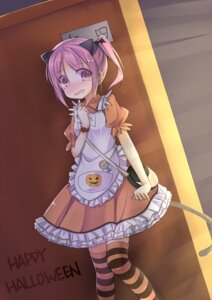 Rating: Safe Score: 29 Tags: animal_ears halloween luky maid nekomimi tail thighhighs User: 椎名深夏