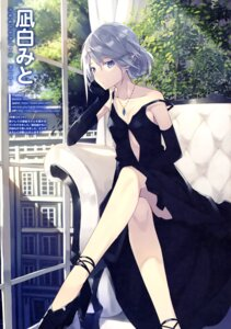 Rating: Questionable Score: 37 Tags: cleavage dress heels nagishiro_mito pointy_ears User: drop