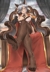 Rating: Questionable Score: 72 Tags: animal_ears breasts feet fishnets freesia_von_bismarck granblue_fantasy kinhasu megane nipples no_bra open_shirt street_fighter thighhighs uniform User: Mr_GT