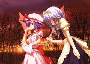Rating: Safe Score: 25 Tags: dress fixed izayoi_sakuya kamikire_basami remilia_scarlet touhou wings yasuyuki User: fireattack